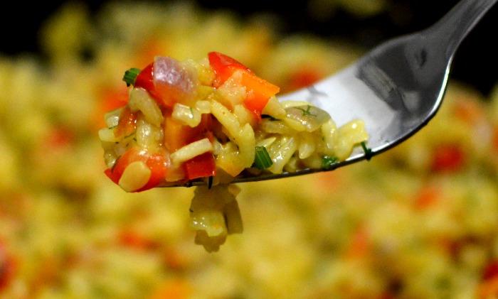 Orez cu legume si curry