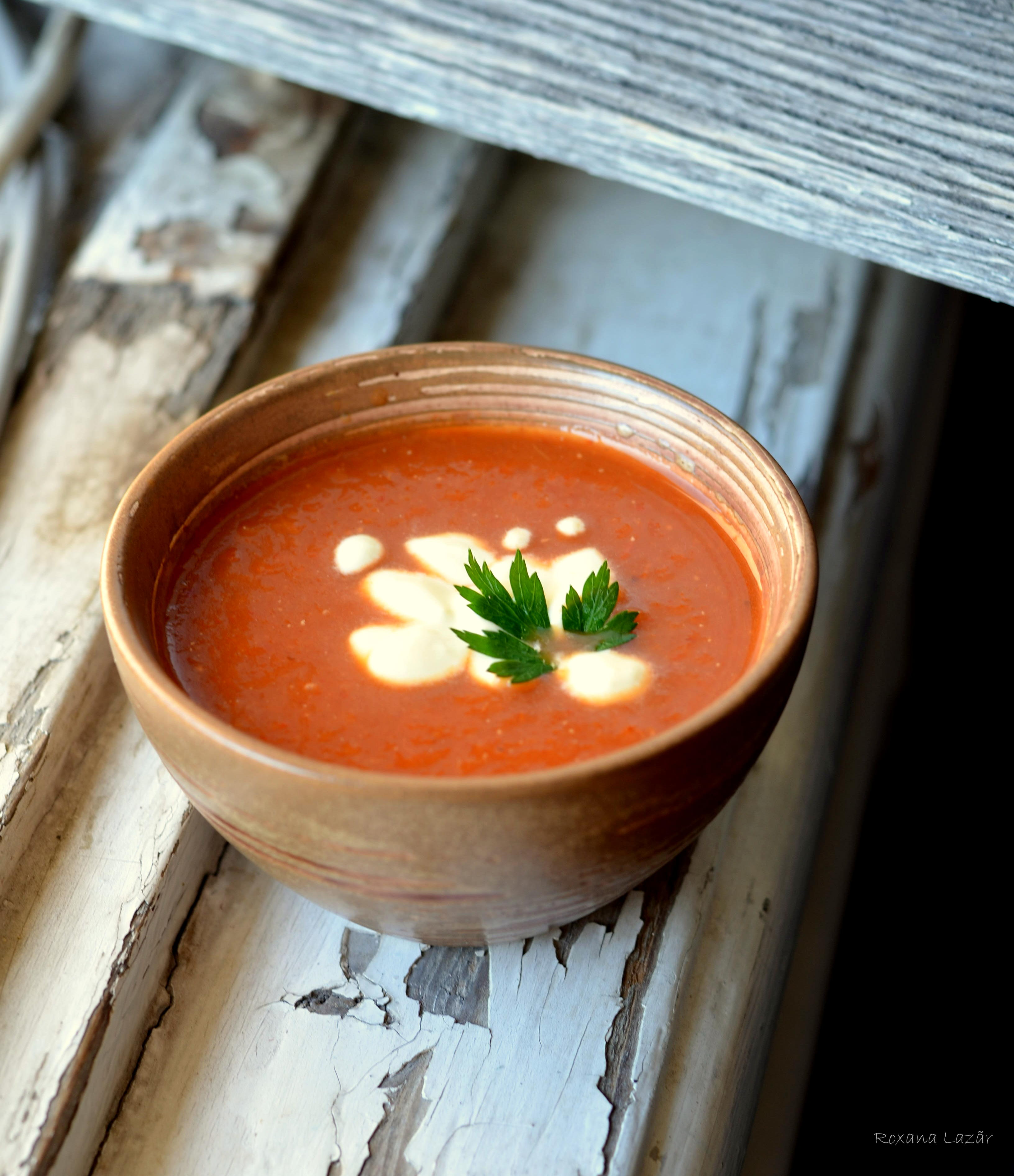 Supa crema de ardei copţi