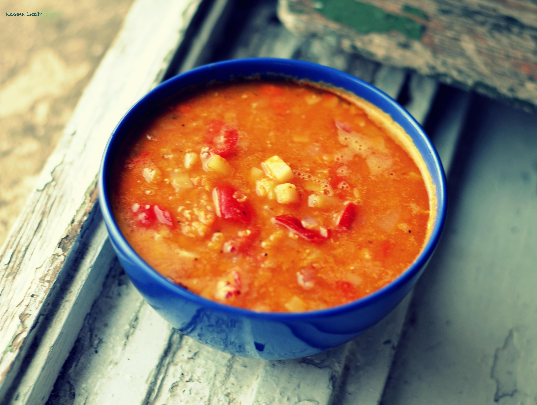 Supa de linte portocalie si carnati afumati, fiarta in bere – via EasyPeasy (reinterpretare)