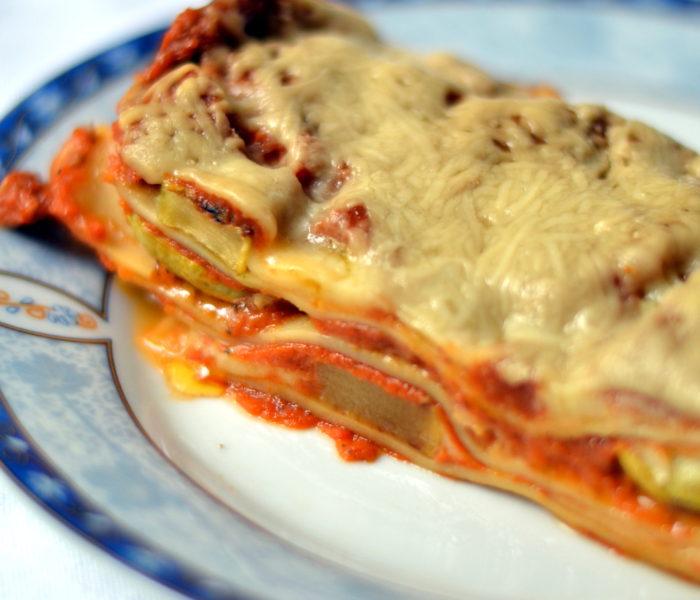Lasagna pentru Ionica: cu dovlecei la grill
