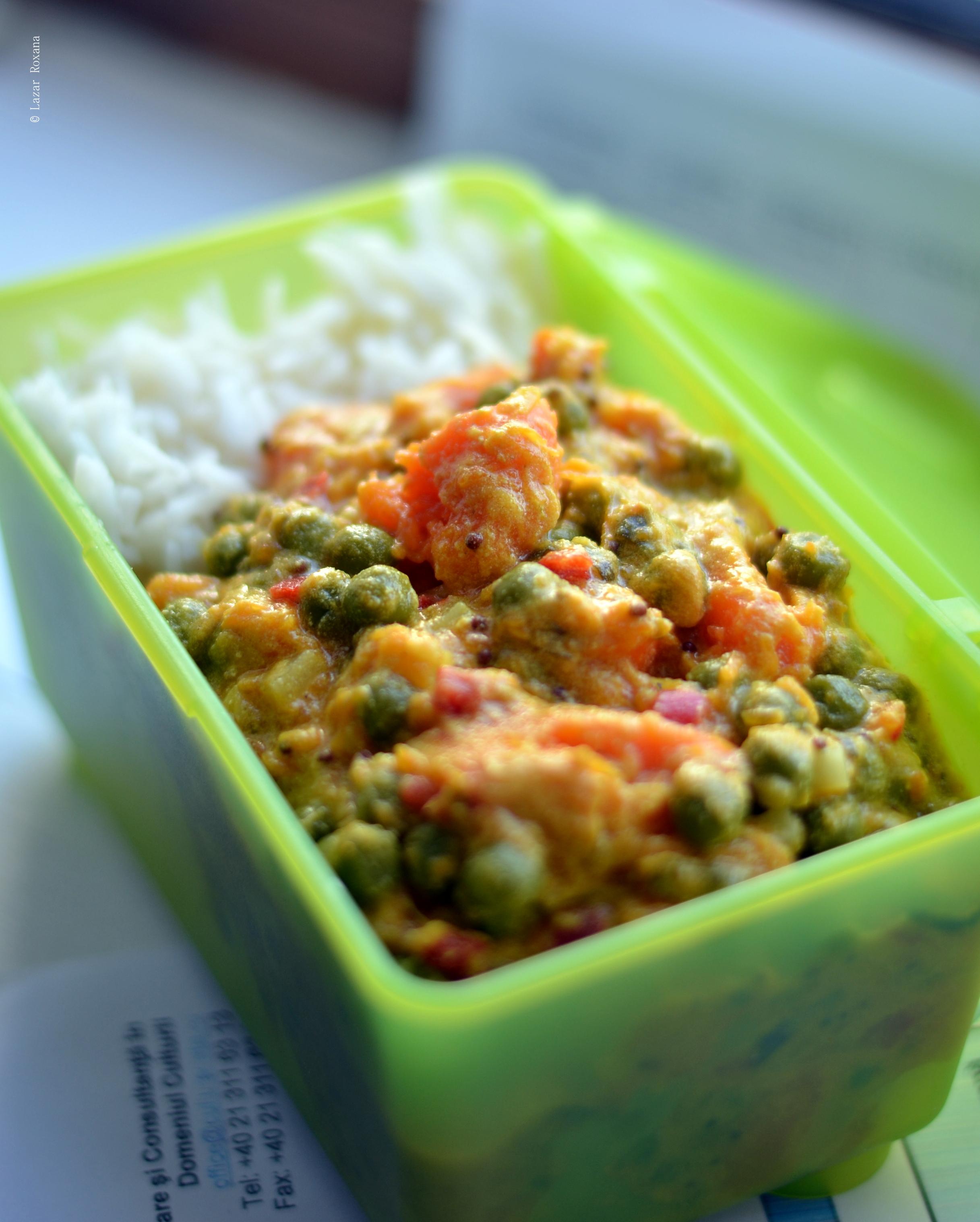 Cum sa faci curry simplu si rapid cand nu stii sa faci curry. Cu dovleac si mazare