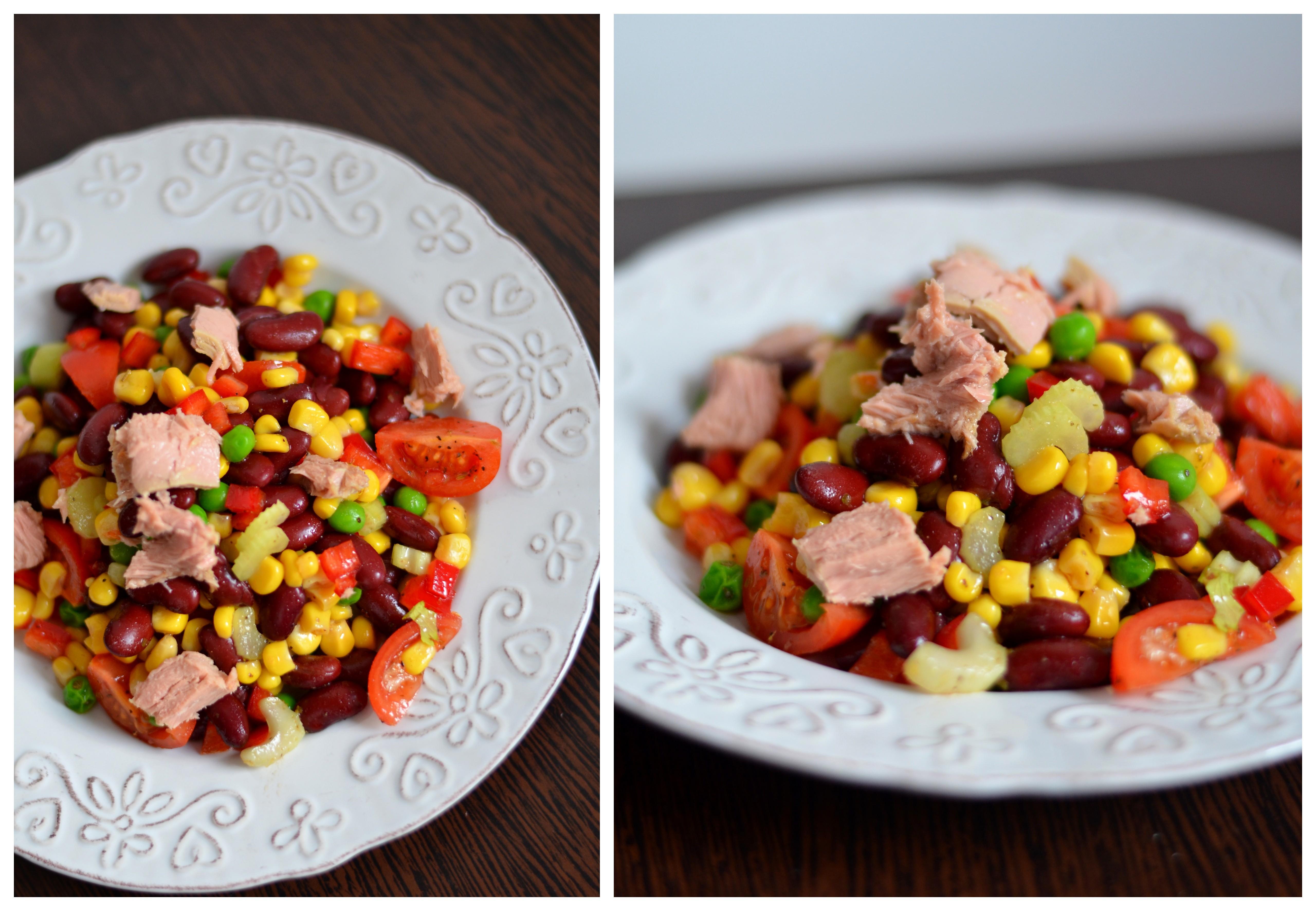 Insalatissime de casa. Adicatelea salata de ton cu toate legumele gasite prin casa