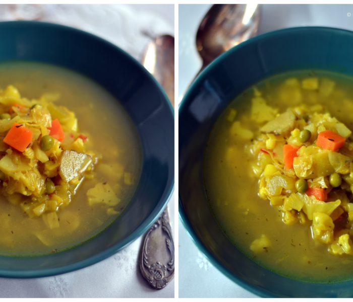 Supa de iarna, cu arome indiene